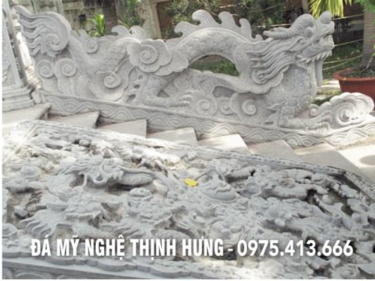 Chiếu Rồng đá kênh bong, sắc nét, và đẳng cấp của Đá mỹ nghệ Thịnh Hưng.