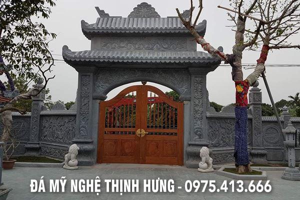 Cổng đá ĐẸP - Mẫu Cổng đá Nhà thờ họ, Đình Chùa, Cổng làng đá, Bảo điện,... của Đá mỹ nghệ Thịnh Hưng