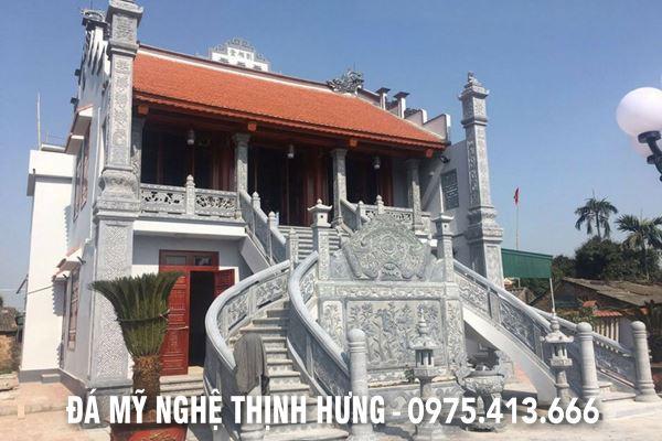 Lan can đá ĐẸP cao cấp - Lan can đá cho Đình, Chùa, Điện thờ, Khu di tích lịch sử - Đá mỹ nghệ Thịnh Hưng