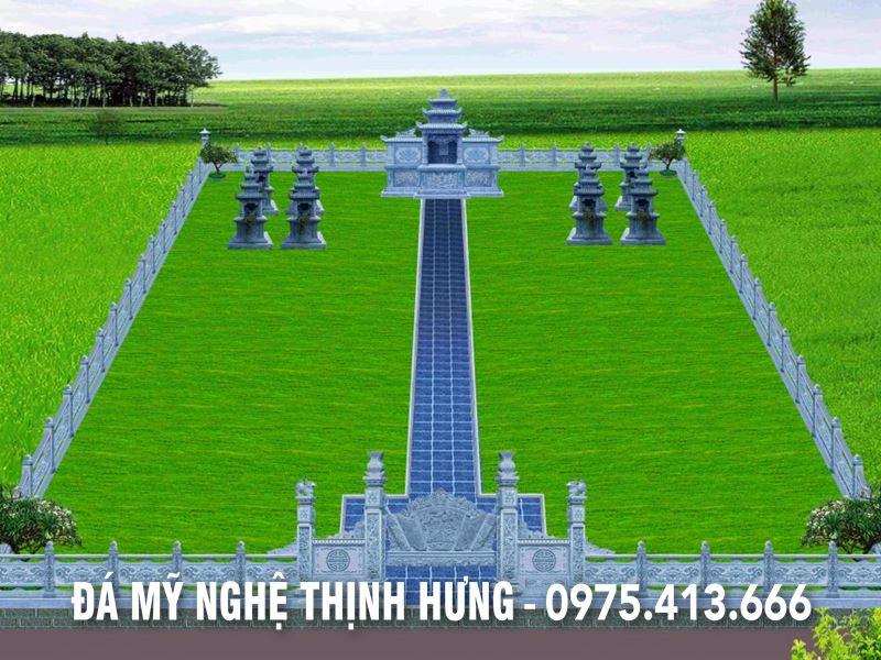 Thiết kế khu lăng mộ 4 ngôi mộ tam sơn ba mái đẹp tại Ninh Bình cho gia tộc họ Bùi.