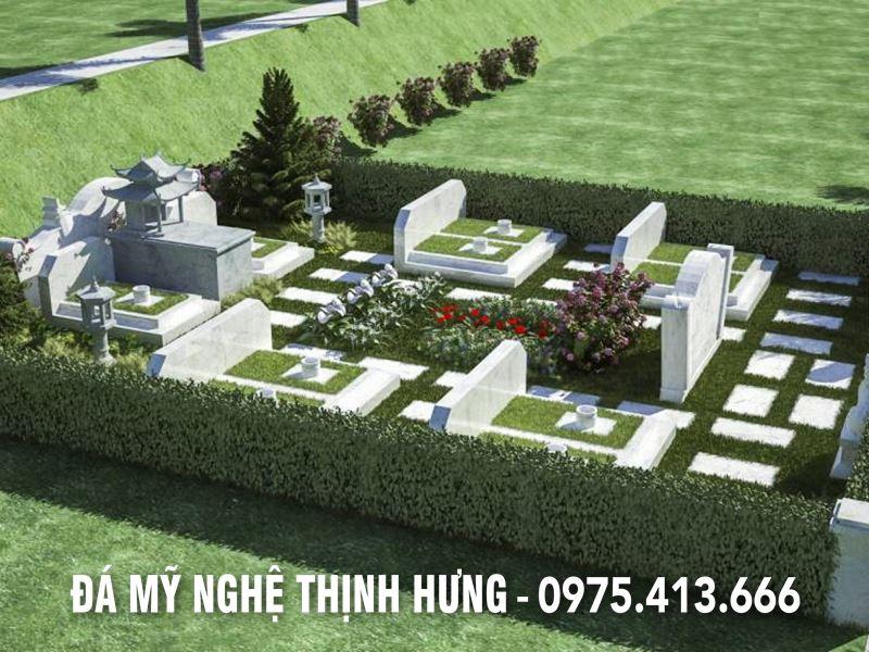Khu Lăng mộ gia tiên đẹp tại Hoa viên nghĩa trang sinh thái.