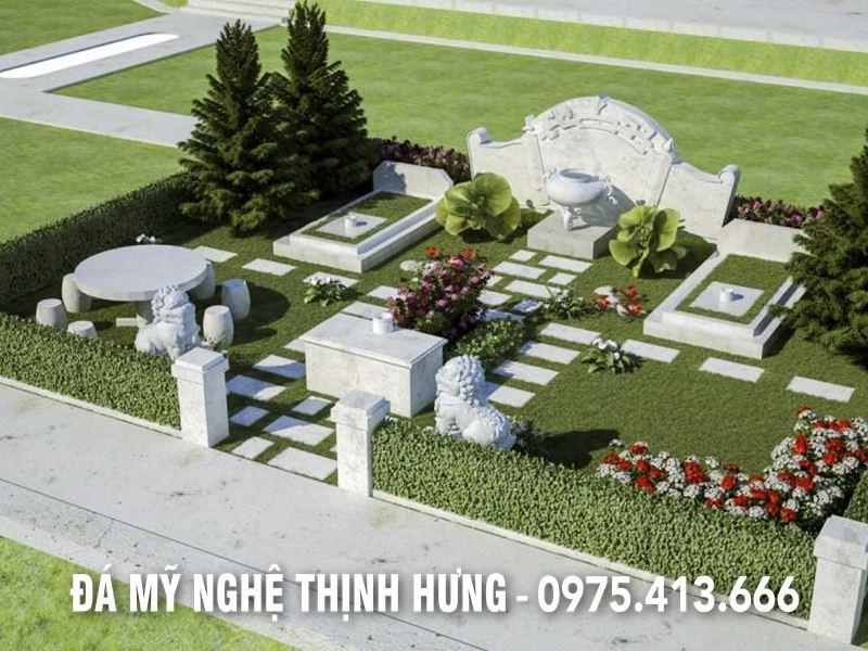 Mẫu thiết kế, phối cảnh Lăng mộ gia tiên tại Hoa Viên nghĩa trang Sinh thái tại Hà Nội.