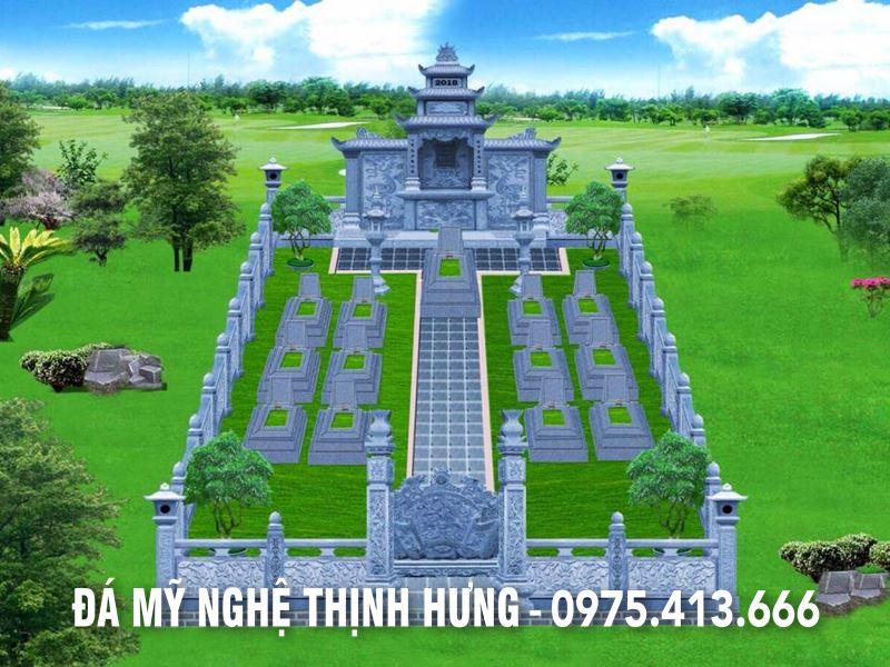 Mẫu thiết kế, phối cảnh Lăng mộ 12 ngôi mộ của Gia tộc họ Nguyễn tại Bắc Ninh