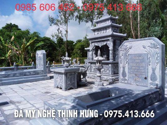 Mộ Đá cao cấp của Khu Lăng Mộ Thịnh Hưng bằng đá xanh tự nhiên