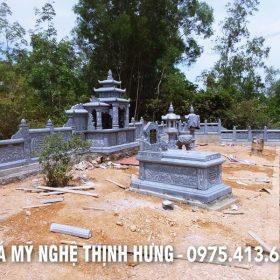 Lăng Mộ Đá đẹp, Mộ đá Tam Sơn đẹp kích thước lớn của Khu lăng mộ Thịnh Hưng