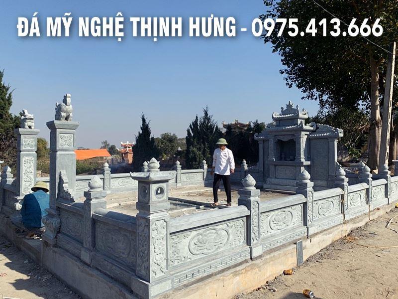 Lan can da cho Khu lang mo da tai Ninh Binh