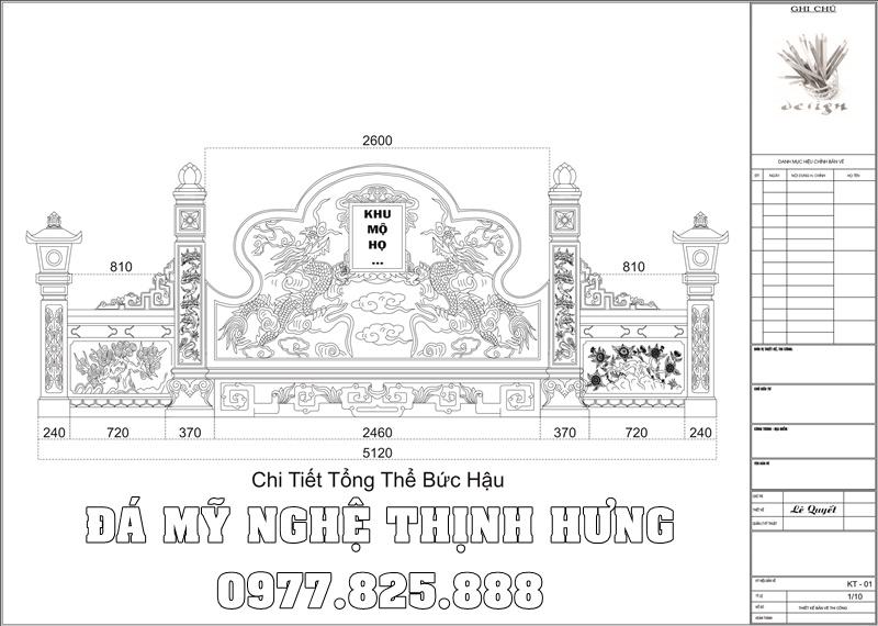 Chi tiet Ban ve Thiet ke Buc Hau Banh Khu Lang Mo