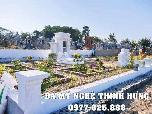 Lăng Thờ Đá trắng tự nhiên tại Hoa Viên Nghĩa trang sinh thái cao cấp