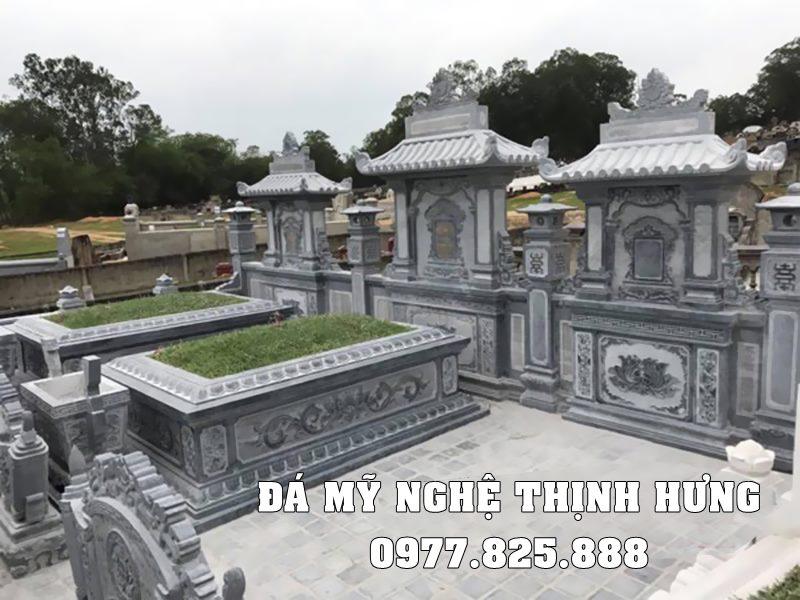 Xây Lăng Mộ đá chôn cất một lần đẹp Thịnh Hưng