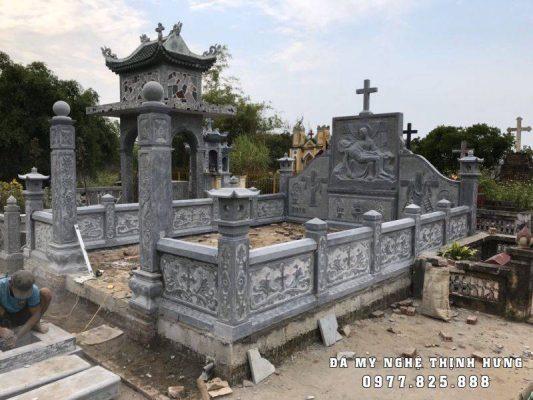 Khu Lăng mộ đá Công giáo đẹp, Mẫu Lăng mộ đá công giáo Thịnh Hưng tại Nam Định.