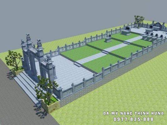 Phối cảnh, thiết kế Khu Lăng mộ đá Thịnh Hưng tại Ninh Bình