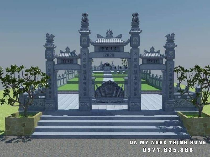 Mẫu thiết kế Cổng đá tam quan tại Khu lăng mộ đá xanh.