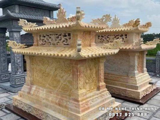 Mẫu Mộ đá Vàng đẹp Thịnh Hưng