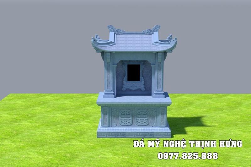Thiết kế Mộ đá đôi một mái đẹp của Đá mỹ nghệ Thịnh Hưng