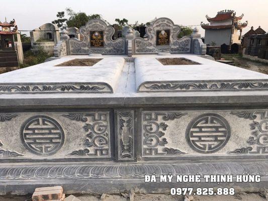 Mẫu mộ đá đẹp - Mộ chôn cất một lần của Thịnh Hưng.