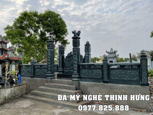 Mẫu Cổng đá xanh rêu của khu Lăng mộ đá đẹp tại Nam Định.