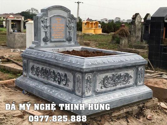 Mẫu Mộ đá đẹp, Mộ đá đơn Tam Sơn đẹp Ninh Bình.
