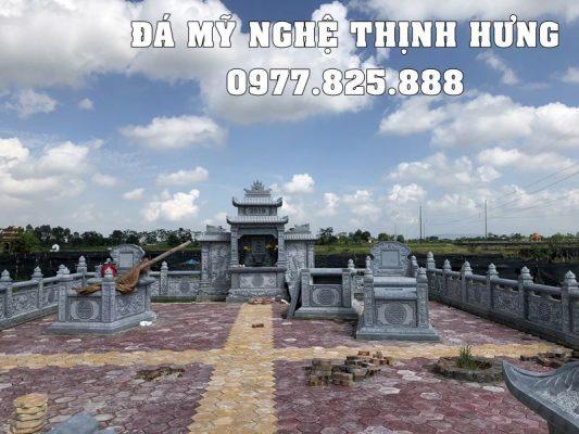 Khuôn viên thiết kế Lăng mộ đá đẹp tại Nam Định.